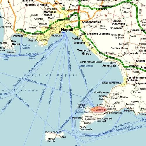 Cartina Geografica Della Costiera Amalfitana.Sorrento Informazioni Turistiche